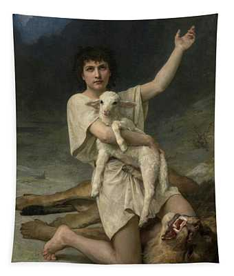 The Shepherd David Triumphant Tapestry
