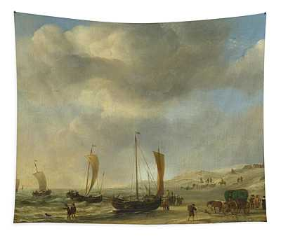 The Shore At Scheveningen Tapestry