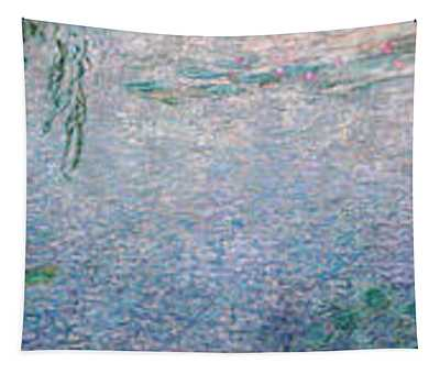 The Water Lilies, Clear Morning With Willows Tapestry