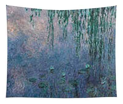The Water Lilies, Morning With Willows Tapestry