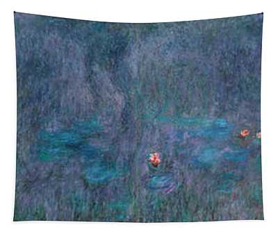 The Water Lilies, Tree Reflections Tapestry
