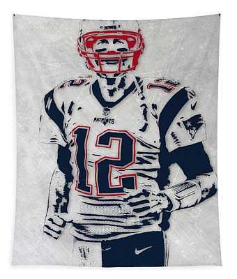 Tom Brady New England Patriots Pixel Art 5 Tapestry