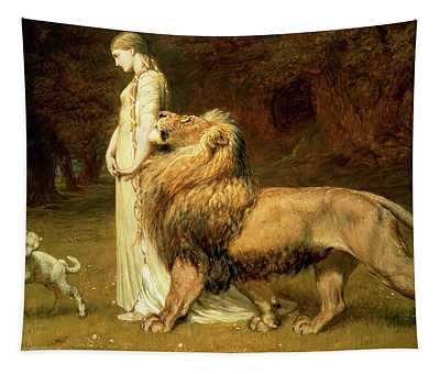 Una And Lion From Spensers Faerie Queene Tapestry