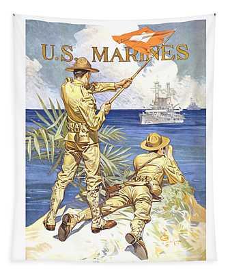 Us Marines - Ww1 Tapestry