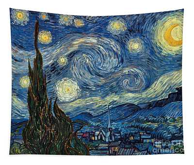 Tapestry featuring the painting Van Gogh Starry Night by Granger