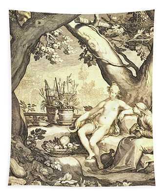 Vertumnus And Pomona Tapestry