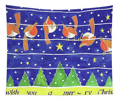 We Wish You A Merry Christmas Tapestry