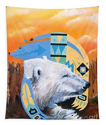 White Bear Goes Southwest Tapestry