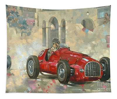 Whitehead's Ferrari Passing The Pavillion - Jersey Tapestry