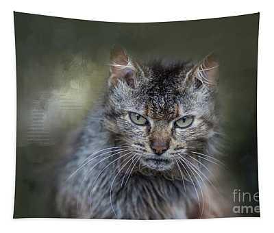 Wild Cat Portrait Tapestry
