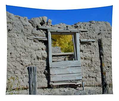 Tapestry featuring the photograph Window In Autumn by Joseph R Luciano