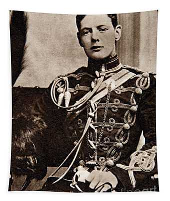 Winston Churchill As A Second Lieutenant In The 4th Queen's Own Hussars Tapestry