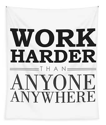 Work Hard - Motivational Quote Tapestry