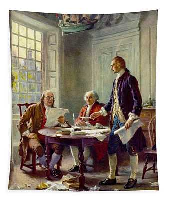 Writing The Declaration Of Independence, 1776 Tapestry