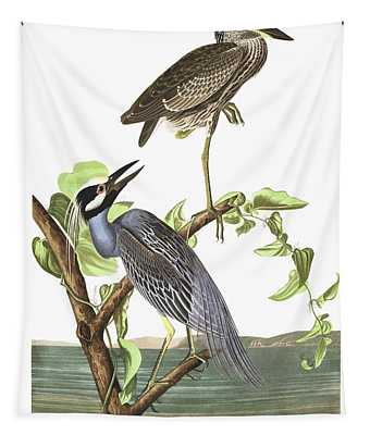 Yellow Crowned Heron Tapestry