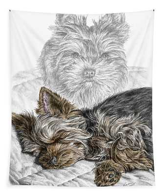 Yorkie - Yorkshire Terrier Dog Print Tapestry