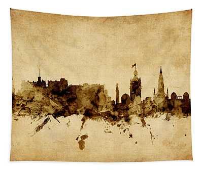 Edinburgh Scotland Skyline Tapestry