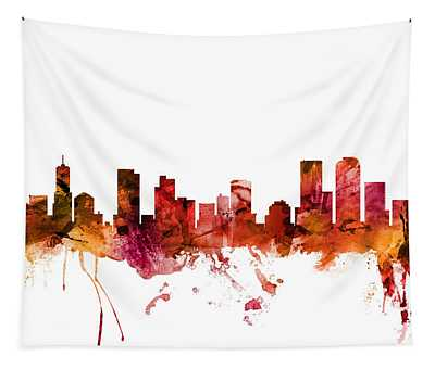 Denver Colorado Skyline Tapestry