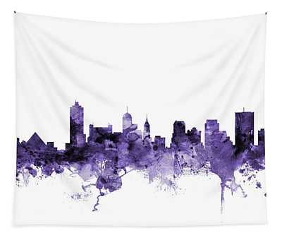 Memphis Tennessee Skyline Tapestry
