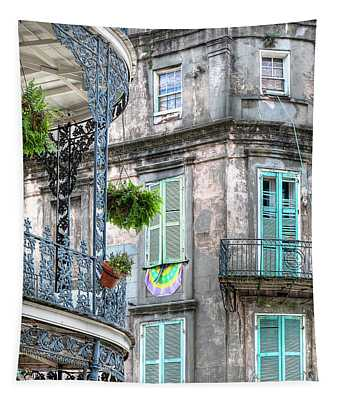 1358 French Quarter Balconies Tapestry
