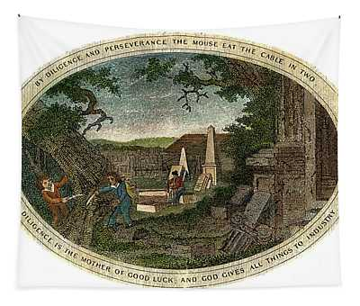 Poor Richard Illustrated Tapestry