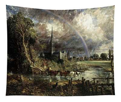 Salisbury Cathedral From The Meadows Tapestry