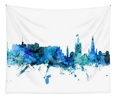 Edinburgh Scotland Skyline Tapestry