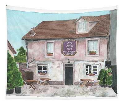 1775 Cafe De La Place Tapestry