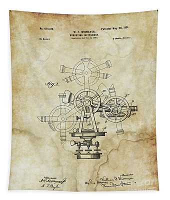 1901 - Surveying Instrument Patent - Vintage Tapestry