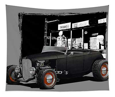 1932 Ford At Gas Station Tapestry