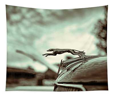 1934 Ford Hood Ornament Tapestry