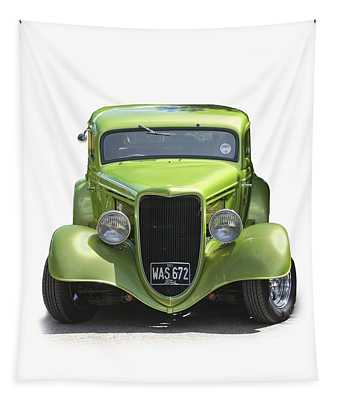 1934 Ford Street Hot Rod On A Transparent Background Tapestry