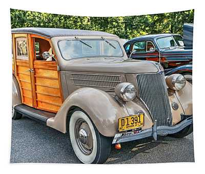1936 Ford V8 Woody Station Wagon Tapestry