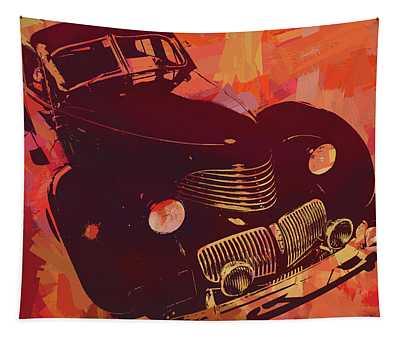1940 Hupp Skylark Red Pop Tapestry
