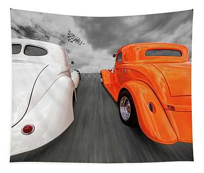 1941 Willys Vs 1934 Ford Coupe Tapestry