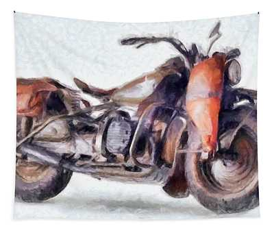 1942 Harley Davidson, Military, 750cc Tapestry