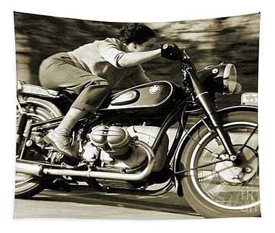 1954 Bmw R68 Motorcycle Racer. Tapestry
