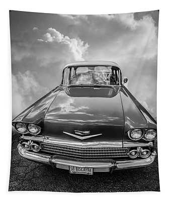 1958 Chevrolet Biscayne In Black And White Tapestry