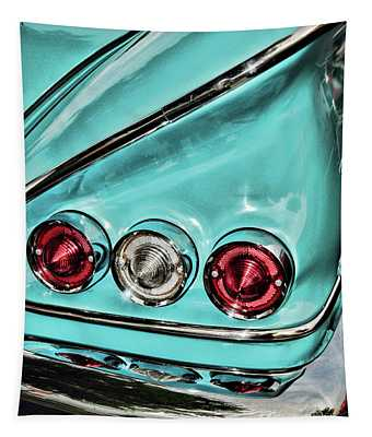 1958 Chevy Impala Those Taillights Tapestry