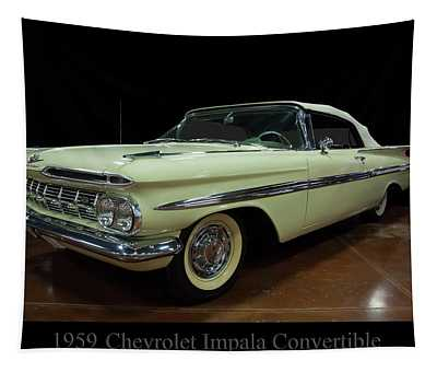 1959 Chevy Impala Convertible Tapestry