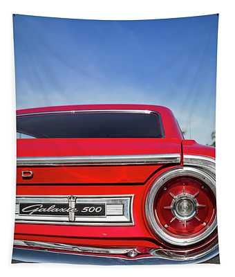 1964 Ford Galaxie 500 Taillight And Emblem Tapestry