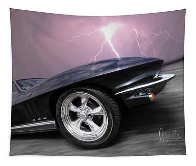 1966 Corvette Stingray With Lightning Tapestry