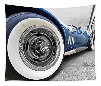 1968 Corvette White Wall Tires Tapestry