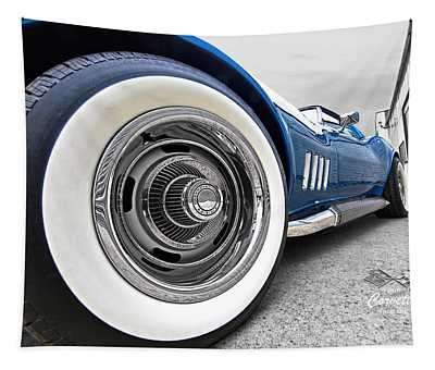 1968 Corvette White Wall Tires Tapestry
