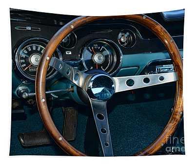 1968 Mustang Fastback Steering Wheel Tapestry