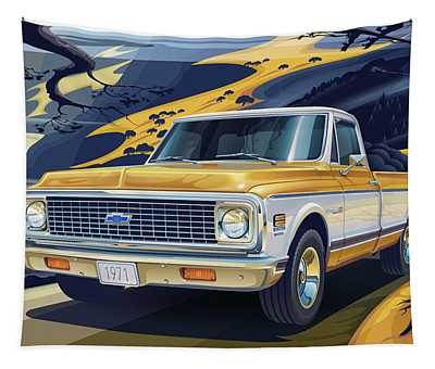 Vintage Truck Wall Tapestries