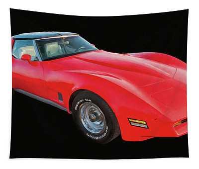 1977 Chevy Corvette T Tops Digital Oil Tapestry