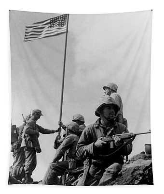 1st Flag Raising On Iwo Jima  Tapestry