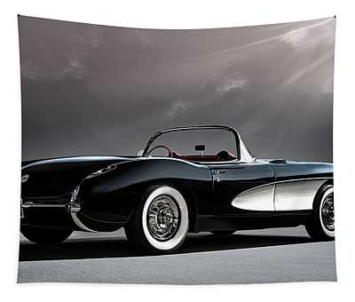 '56 Corvette Convertible Tapestry