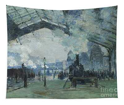 Arrival Of The Normandy Train, Gare Saint Lazare Tapestry